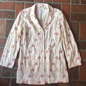 Women's vintage J. Jill floral cotton blazer